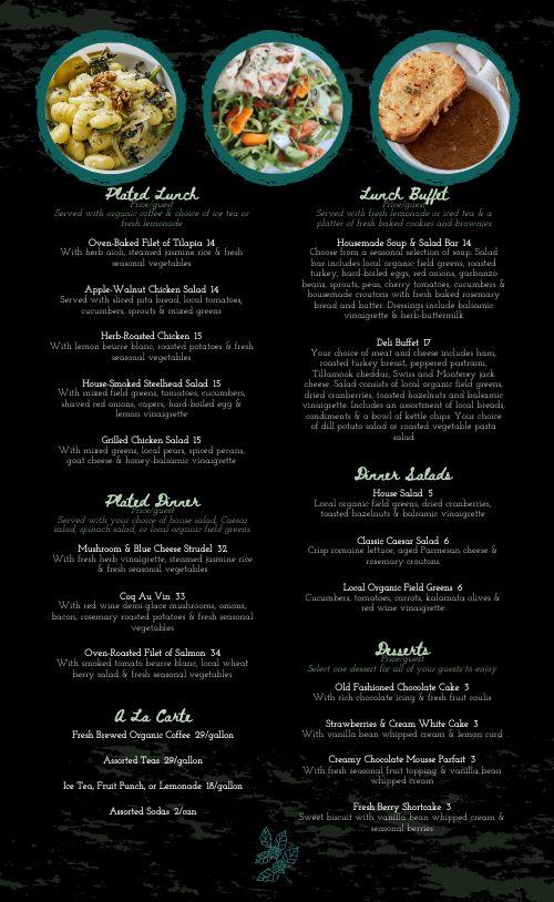 Essential Catering Menu
