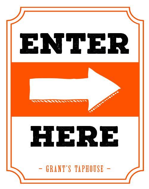 Enter Sidewalk Sign