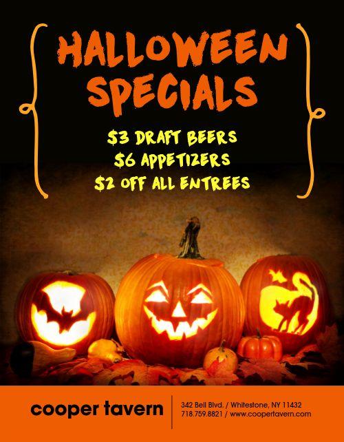 Halloween Spooky Specials Flyer