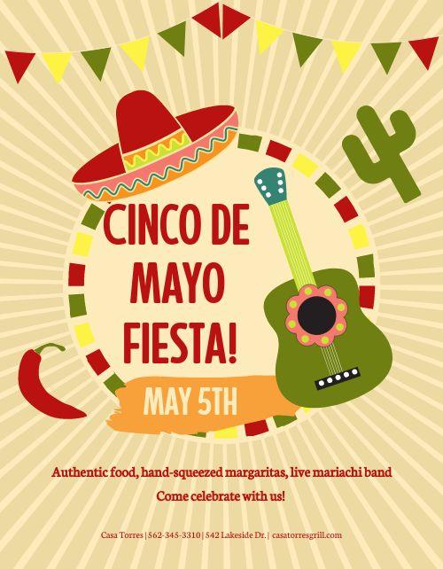 Cinco De Mayo Colorful Flyer