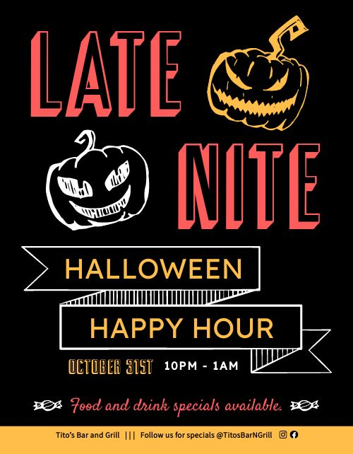 Halloween Happy Hour Promo