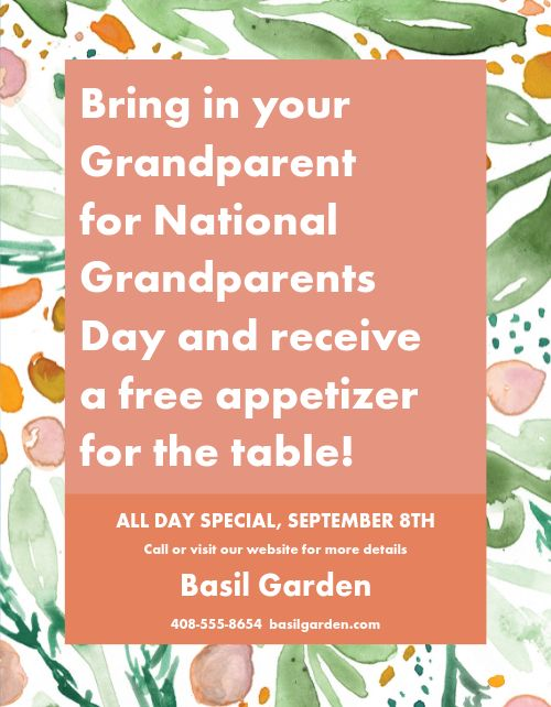 Grandparents Day Special Flyer