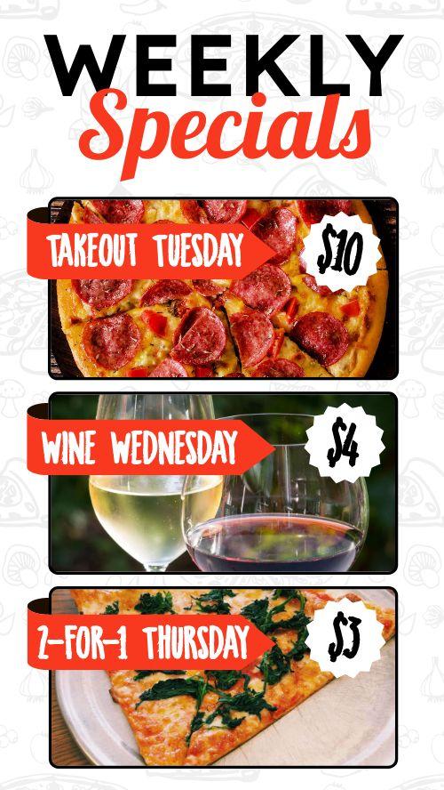 Pizza Specials Instagram Story