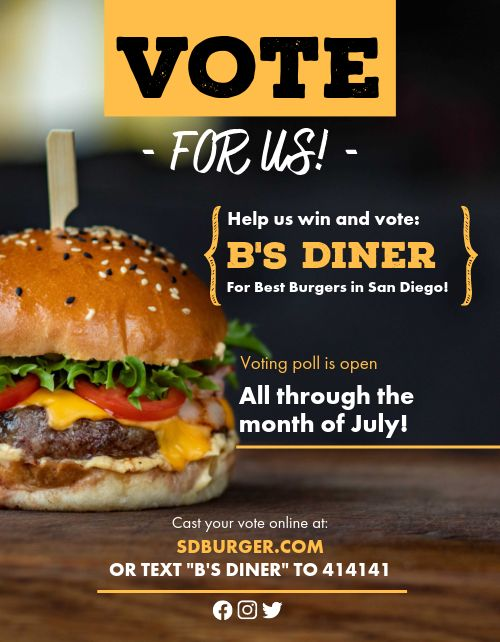 Vote For Our Burger Flyer