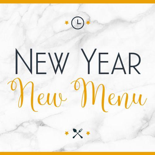 New Year New Menu Instagram Post