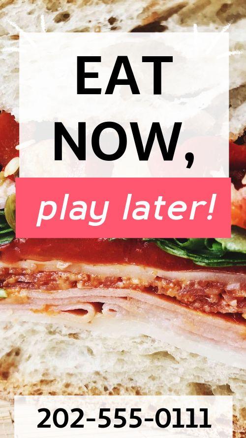 Cafe Sandwich Facebook Story