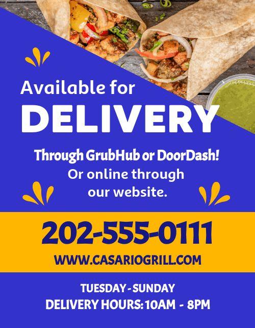 Burrito Delivery Flyer