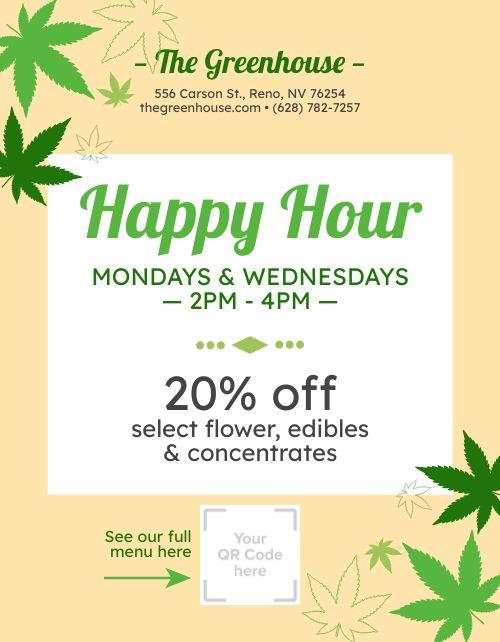 Dispensary Happy Hour Flyer