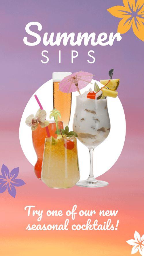 Summer Cocktails Instagram Story