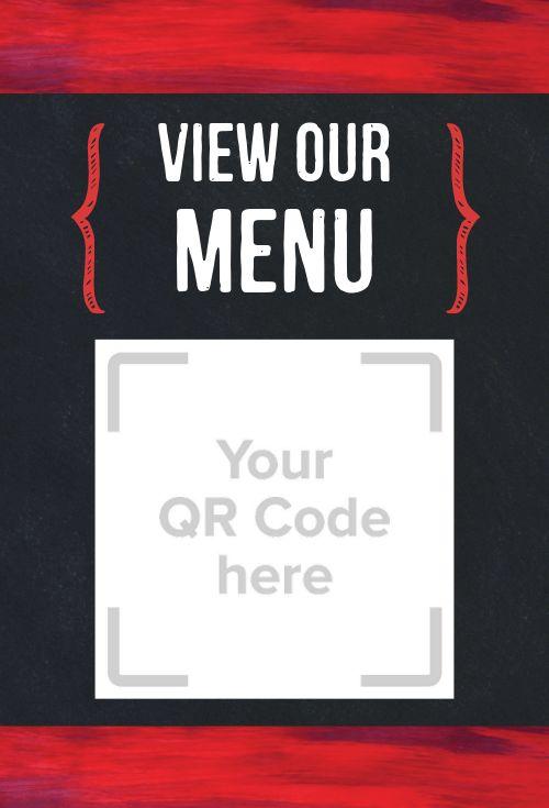 Restaurant QR Code Table Tent