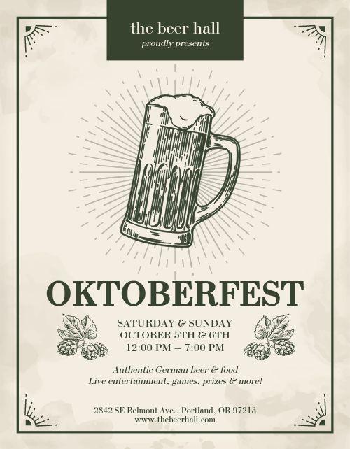 Oktoberfest Hops Flyer
