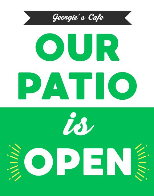Patio Sidewalk Sign