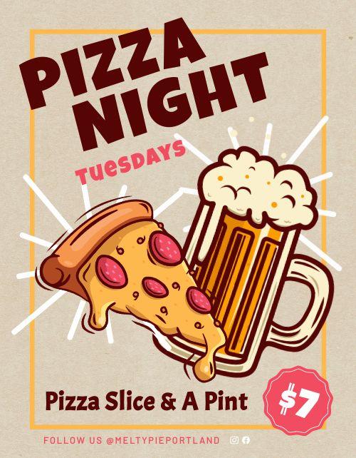 Pizza Night Sign