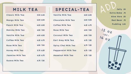 Boba Tea Digital Display