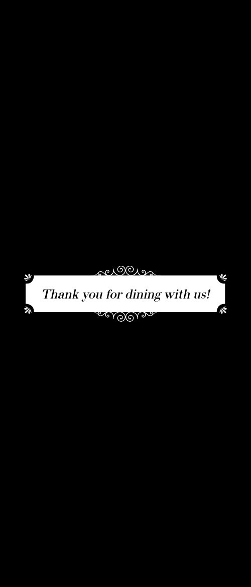 Fine Dining Comment Card