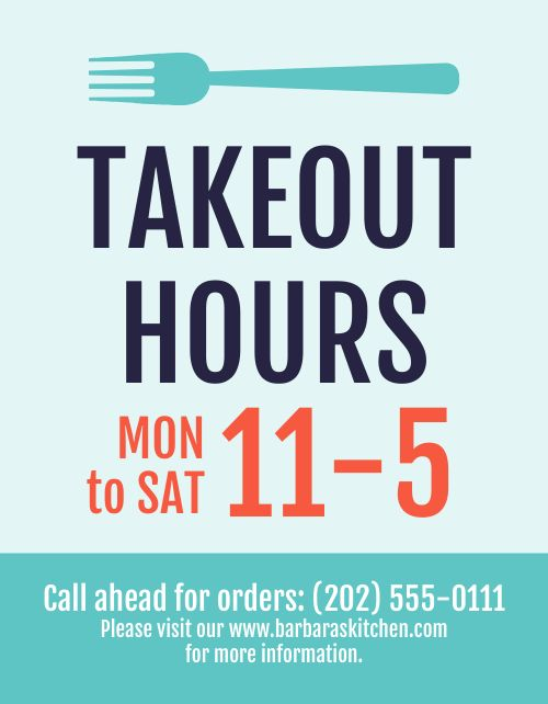 Takeout Operations Flyer
