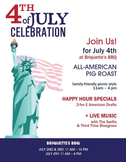 July Fourth BBQ Flyer