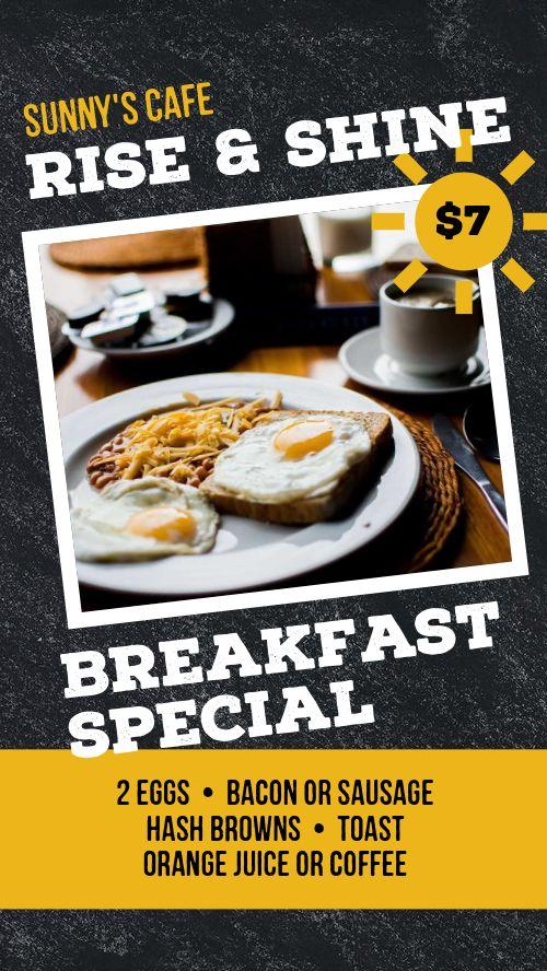 Breakfast Special Instagram Story