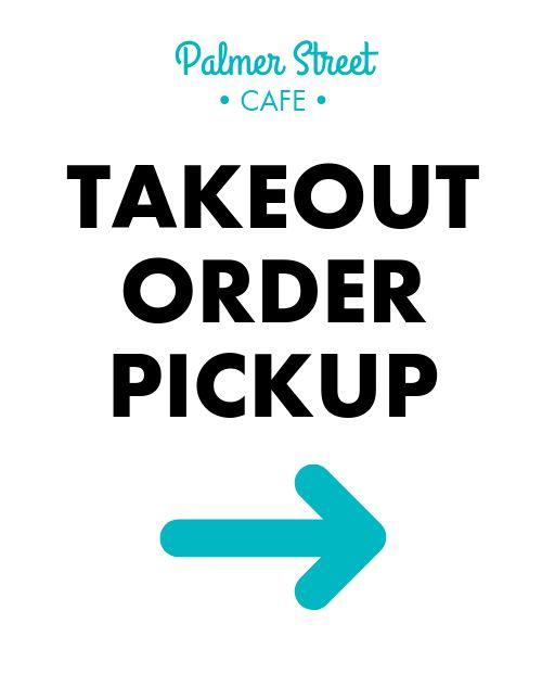 Takeout Pickup Sandwich Board
