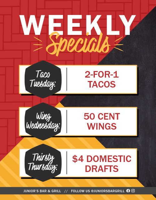Weekly Specials Signage
