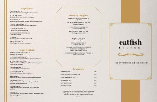 Golden Filigree Fine Dining Folded Menu