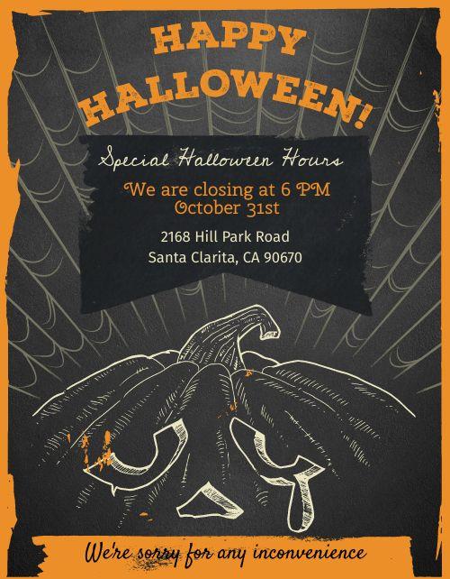 Halloween Schedule Flyer