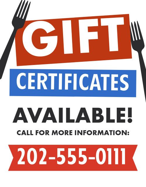 Gift Certificates Announcement