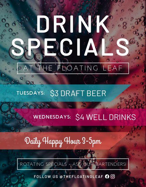Drink Specials Signage