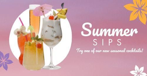 Summer Cocktails Facebook Update