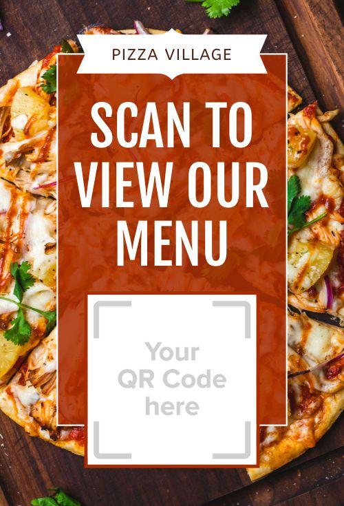 Pizza Menu Table Display