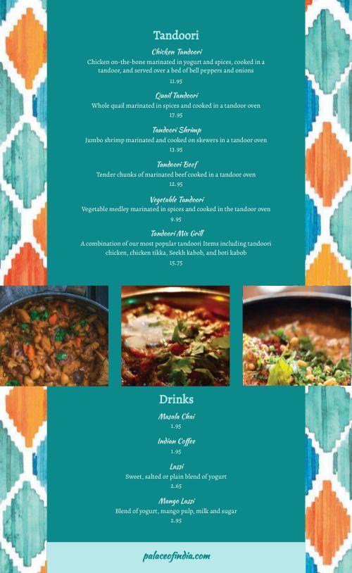Sample Gourmet Indian Menu