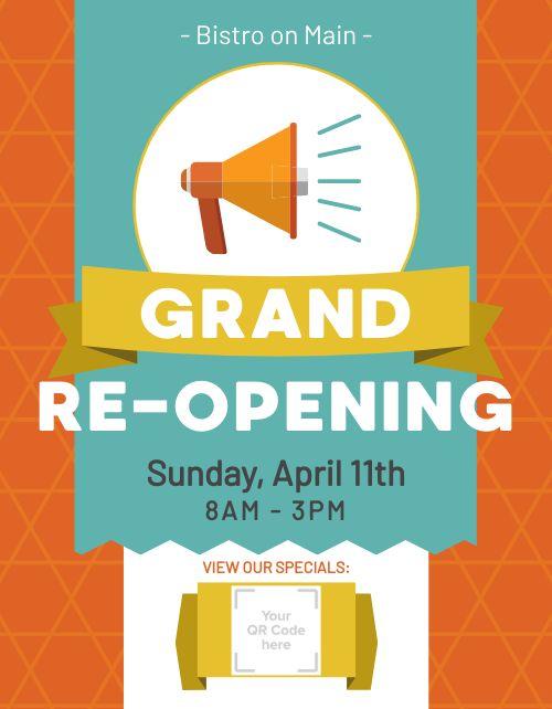 Restaurant Reopening Flyer