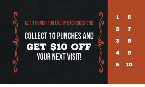Elegant Punch Card