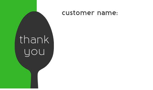 Customer Order Takeout Label