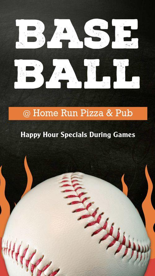 Baseball Pizza Facebook Story
