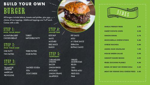 Burger Digital Menu Board