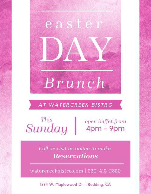 Easter Day Brunch Flyer