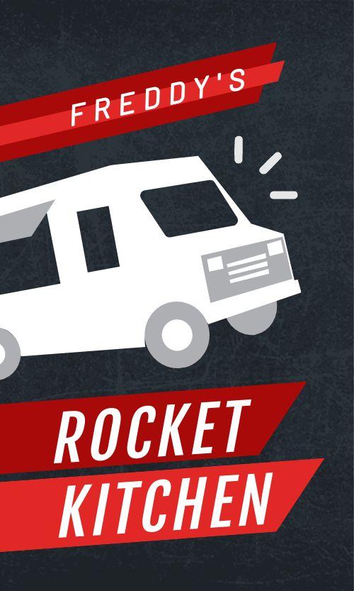Food Truck Kitchen Business Card