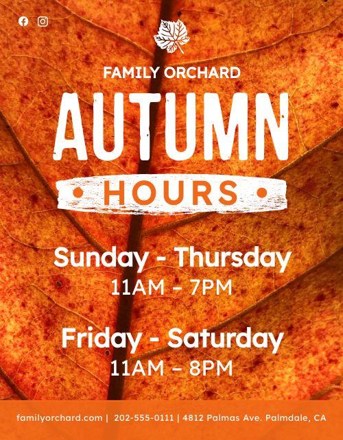 Autumn Hours Flyer