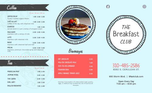Vintage Breakfast Takeout Menu