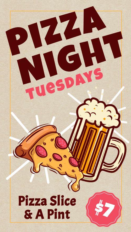 Pizza Night IG Story