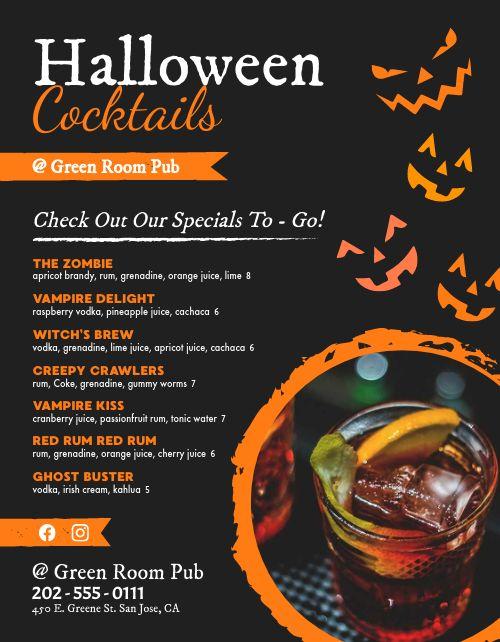 Halloween Cocktails Flyer