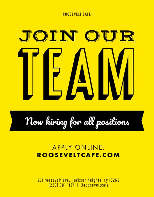Join Our Team Flyer