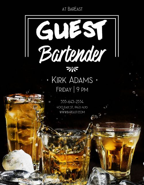 Guest Bartender Flyer