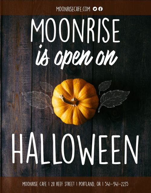 Halloween Window Flyer