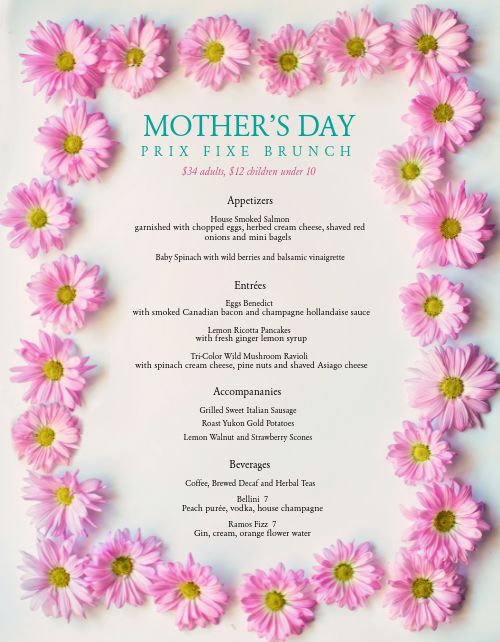 Mothers Day Brunch Specials