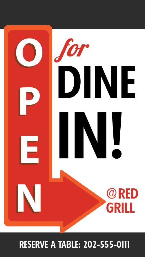 Open Dine In Facebook Story
