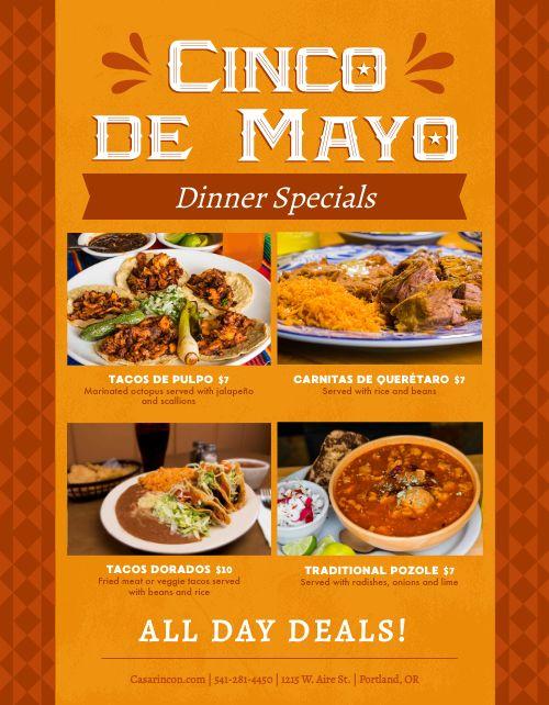 Cinco De Mayo Dinner Flyer