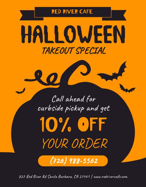 Halloween Takeout Flyer