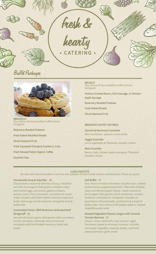 Healthy Catering Menu